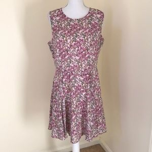 NWT! Maison Jules Sz 12, pink fit and flare dress
